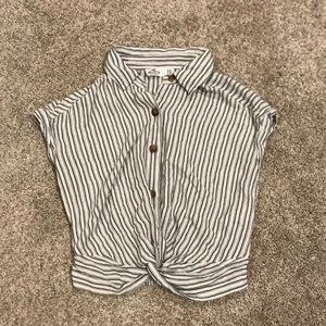 Hollister striped collared t-shirt